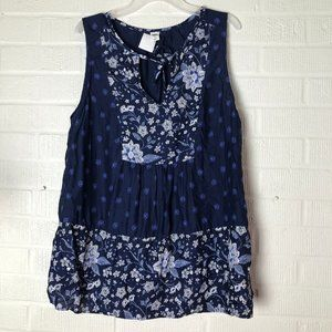 OLD NAVY Blue Tunic Sleeveless Blouse Size S